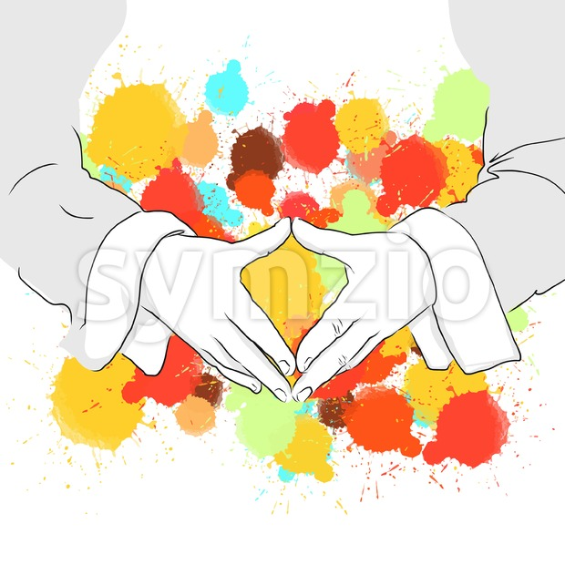 Angela Merkel Folding Hands Sign Stock Vector