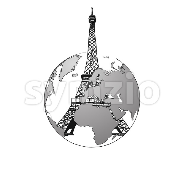 Travel to France. Concept Design. Stock Vector