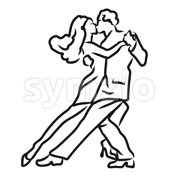 Tango Argentino Dancer Sketch Stock Vector