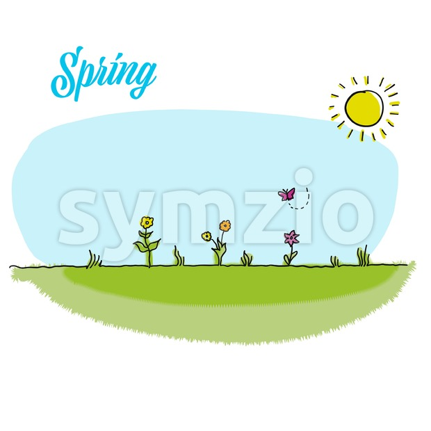Spring gardening vector background Stock Vector