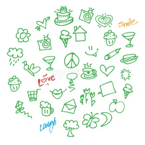 Vector Love Doodles Stock Vector