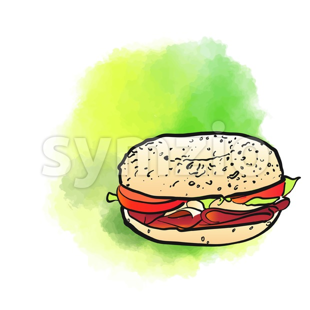 Bagel Poster Design Background Stock Vector