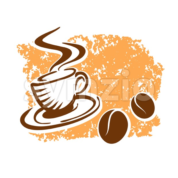 Fresh Coffee Poster Design Background Stock Vector