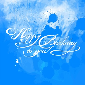 Happy Birthday quote hand lettering Stock Vector