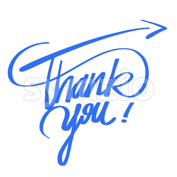 Thank you quote hand lettering Stock Vector