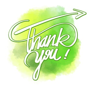 Thank you word hand lettering Stock Vector
