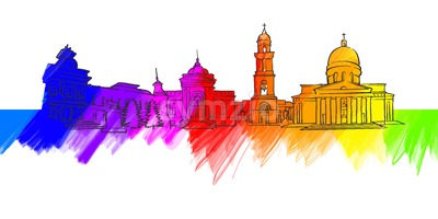 Chisinau Colorful Landmark Banner Stock Vector
