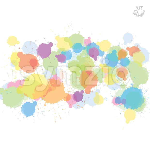 Pale abstract vector drops Stock Vector
