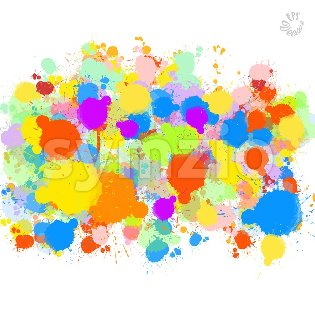 Abstract Colorful Splat Background Stock Vector