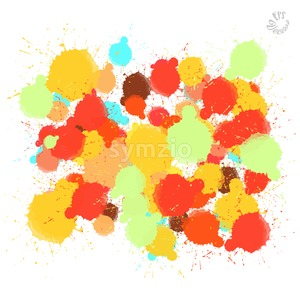 Green and Red Vector Drops Stock Vector