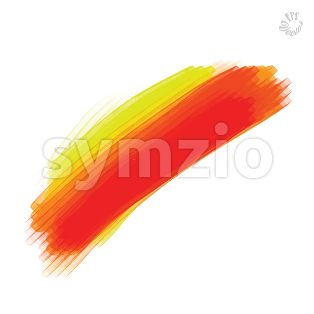 Red vector stroke Stock Vector