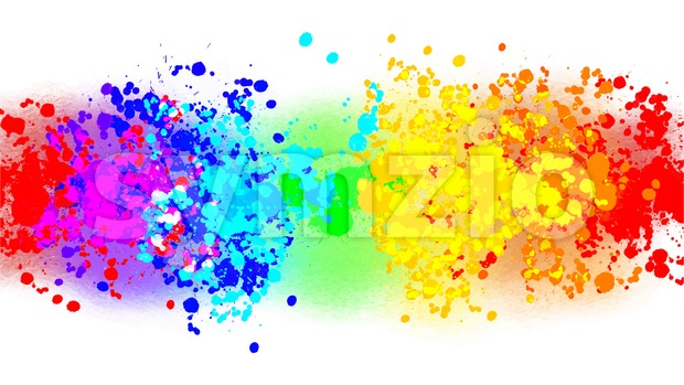vector drops rainbow colors Stock Vector