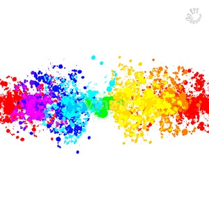 Drops rainbow banner background Stock Vector