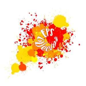 Abstract Splashes of Red and Yellow Color Stock Vector