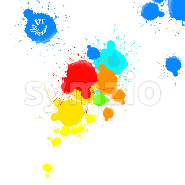 Abstract Splashes of Colors Background Stock Vector
