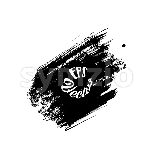 Grunge Stroke, Black Painted Stock Vector