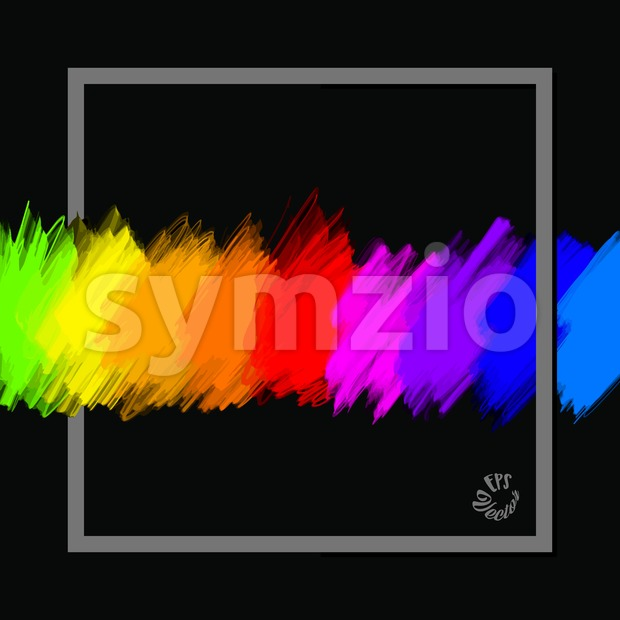 full spectrum colours banner with frame Stock Vector