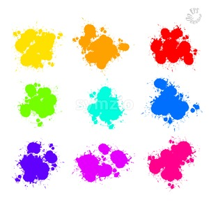 Set of Vector Splat Drops painted Stock Vector