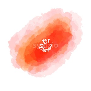 Abstract Red watercolor Background Stroke Stock Vector