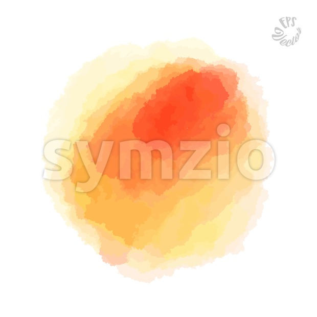 Abstract Yellow watercolor Background Stroke Stock Vector