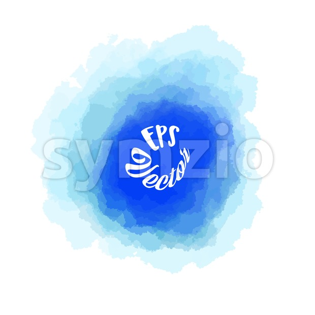 Abstract Blue watercolor Background Stroke Stock Vector