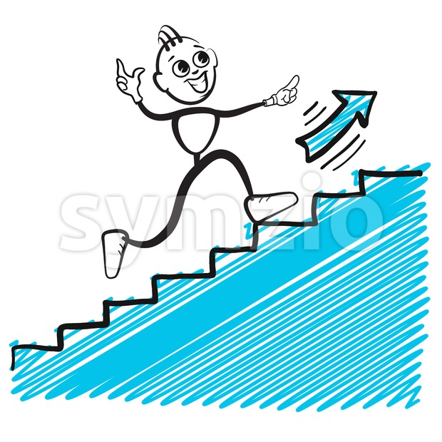 Business man jumping up Stock Vector