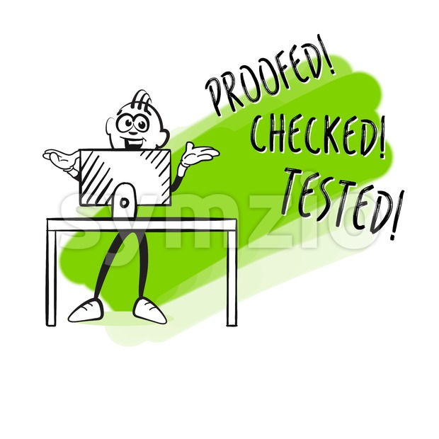Consuting computer check Stock Vector