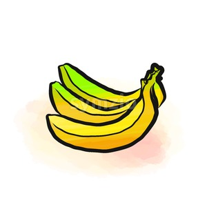 Colored drawing of bananas Stock Vector