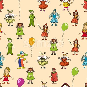 seamless pattern of festive kids icons Stock Vector