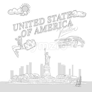 United States travel marketing Stock Vector