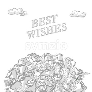 Best wishes marketing cover Stock Vector