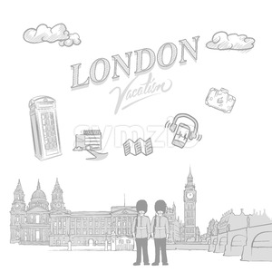 London travel marketing cover Stock Vector