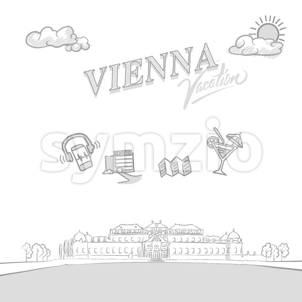 Vienna travel marketing cover Stock Vector