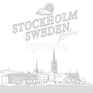 Stockholm travel marketing cover Stock Vector