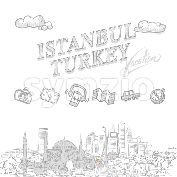 Istanbul travel marketing cover Stock Vector