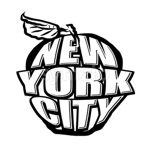 Big Apple NYC Logo Stock Vector