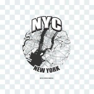 New York City, New York, logo artwork Stock Photo
