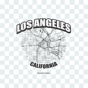 Los Angeles, California, logo artwork Stock Photo