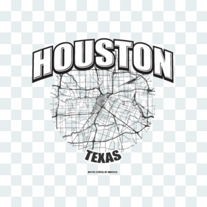 Houston, Texas, logo artwork Stock Photo