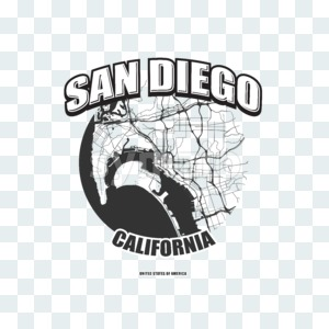 San Diego, California, logo artwork Stock Photo