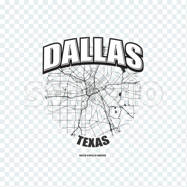 Dallas, Texas, logo artwork Stock Photo