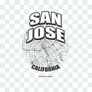 San Jose, California, logo artwork Stock Photo