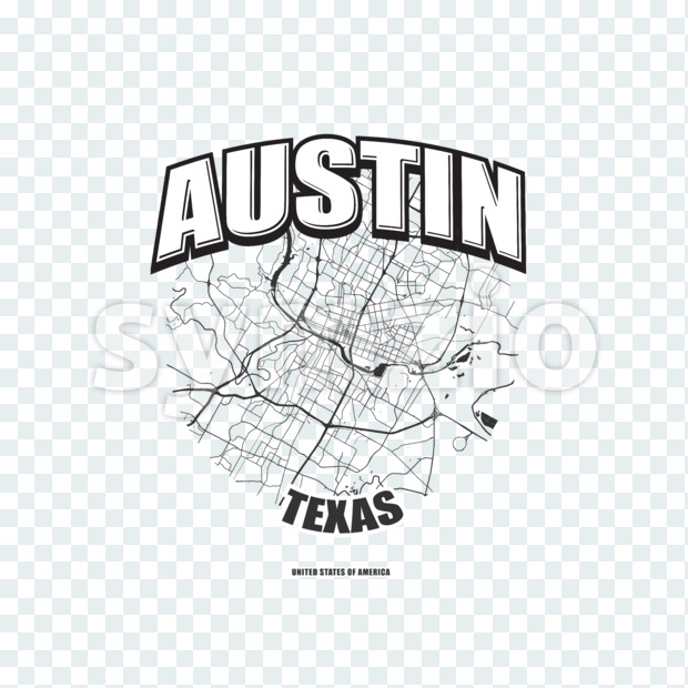 Austin, Texas, logo artwork Stock Photo