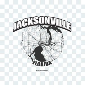 Jacksonville, Florida, logo artwork Stock Photo