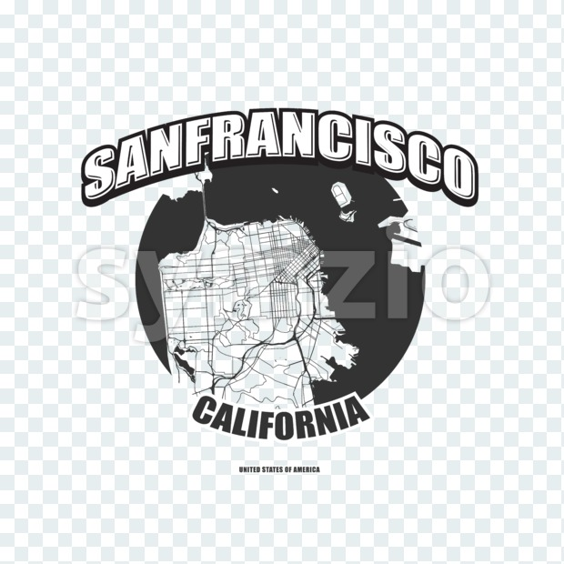 San Francisco, California, logo artwork Stock Photo