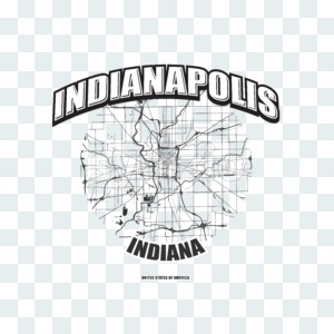 Indianapolis, Indiana, logo artwork Stock Photo