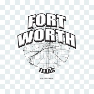 Fort Worth, Texas, logo artwork Stock Photo