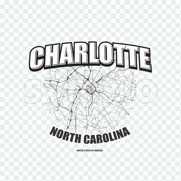 Charlotte, North Carolina, logo artwork Stock Photo