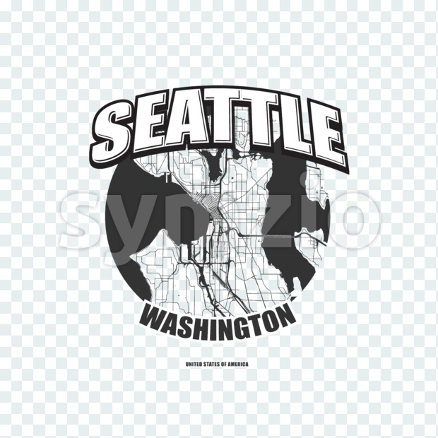 Seattle, Washington, logo artwork Stock Photo