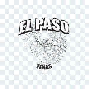 El Paso, Texas, logo artwork Stock Photo
